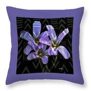 Wild Wildflowers Throw Pillow
