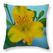 Wild Yellow Lilly Throw Pillow