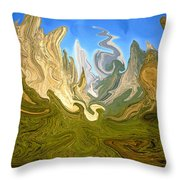 Wild Yosemite - Abstract Modern Art Throw Pillow