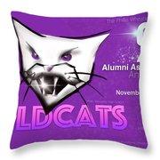 Wildcat 90 Logo Semi Comp4 Throw Pillow