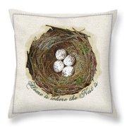 Wildcraft Nest On Linen Throw Pillow