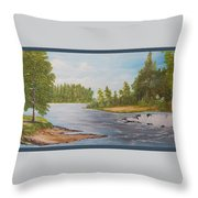 Wilde Wateren  Throw Pillow