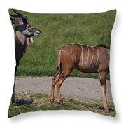 Wildebeest I Throw Pillow