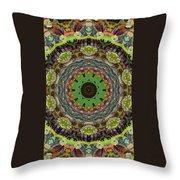 Wilder Flower Mandala Throw Pillow