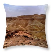 Judean Desert Throw Pillow by Atul Daimari