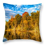 Wilderness Pond - Paint Throw Pillow