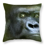 Wildeyes-silverback Throw Pillow