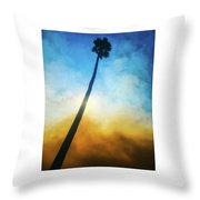 Wildfire Palm Throw Pillow