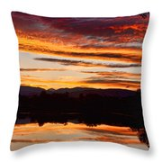 Wildfire Sunset 1v  Throw Pillow