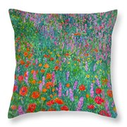 Wildflower Current Throw Pillow