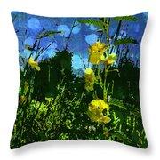 Wildflower Field Throw Pillow