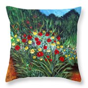 Wildflower Garden 1 Throw Pillow