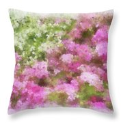 Wildflower Garden 2 Throw Pillow