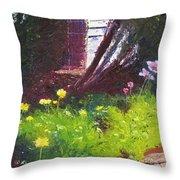 Wildflower Garden Throw Pillow