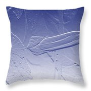 Wildflower In Blue Throw Pillow