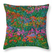 Wildflower Magic Throw Pillow