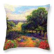 Wildflower Meadows Of Color And Joy Throw Pillow