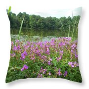 Wildflower Mornings Throw Pillow