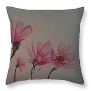 Wildflower Pink Throw Pillow by Ginny Youngblood