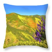 Wildflower Power Throw Pillow
