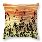 Wildflower Sunrise Throw Pillow