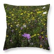 Wildflower Surprise Throw Pillow