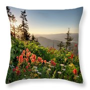 Evening Kisses Throw Pillow