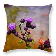 Wildflower Watercolour Throw Pillow