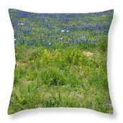 Wildflowers - Blue Horizon Three Throw Pillow