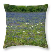 Wildflowers - Blue Horizon Too Throw Pillow
