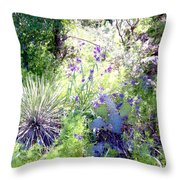 Wildflowers And Cactuses Throw Pillow