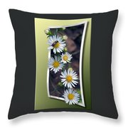 Wildflowers And Visitor Throw Pillow