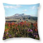 Wildflowers At Mount St Helens Throw Pillow