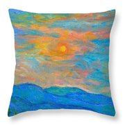 Wildflowers By A Blue Ridge Sunset Throw Pillow