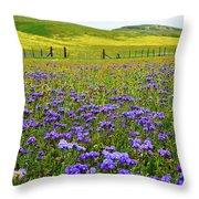 Wildflowers Carrizo Plain National Monument Throw Pillow