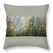 Wildflowers Throw Pillow