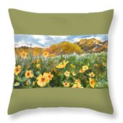 Wildflowers In The Desert Throw Pillow