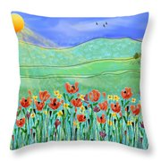 Wildflowers In The Sun Throw Pillow