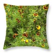 Wildflowers Nine Throw Pillow
