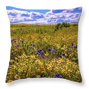 Wildflowers Of The Carrizo Plain Superbloom 2017 Throw Pillow