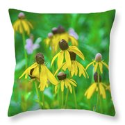 Wildflowers Of Yellow Throw Pillow