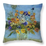 Wildflowers On The Lake Throw Pillow