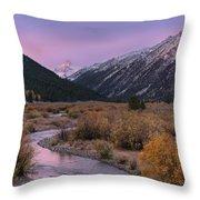 Wildhorse Creek Autumn Sunrise Throw Pillow
