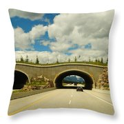 Wildlife Crossing Throw Pillow