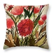 Wildly Red Throw Pillow
