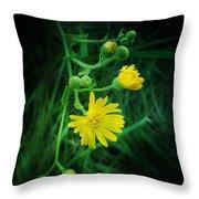 Wildly Yellow Throw Pillow