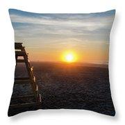 Wildwood New Jersey - Peaceful Morning Throw Pillow
