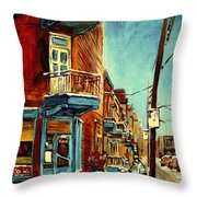 Wilensky's Corner Fairmount And Clark Throw Pillow