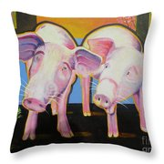 Wiley And  Mut Throw Pillow by Christine Belt