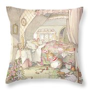 Wilfred's Birthday Morning Throw Pillow